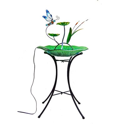 Image of Glass/Metal Decorative Fountain Bowl Stand