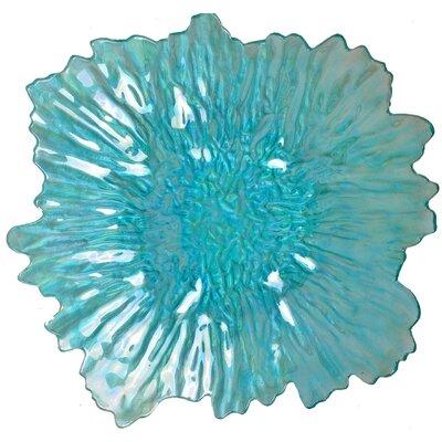 Blueice Flower Glass Plate