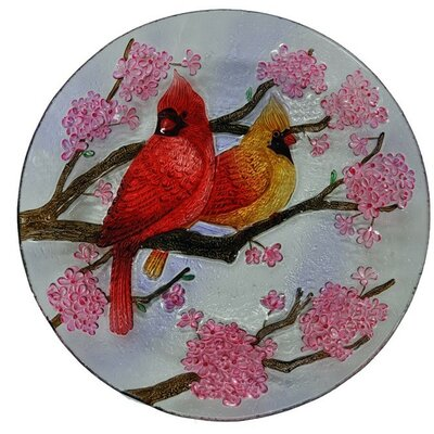 Two Cardinals Glass Plate