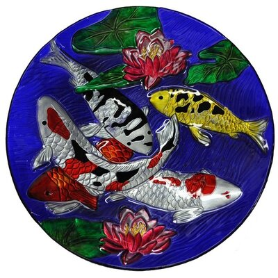 Koi Fish Glass Plate
