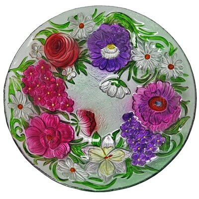 Flower Bouquet Glass Plate