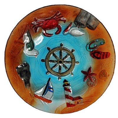 Nautical Life Glass Plate