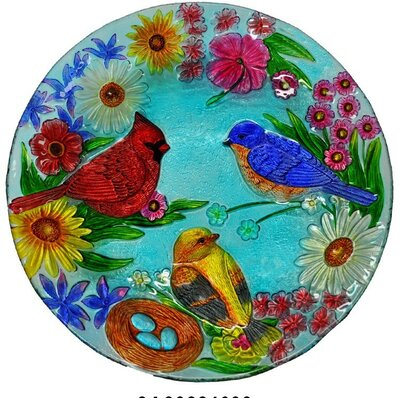 Cardinal Bluebird Plate
