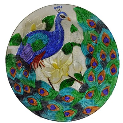 Peacock Glass Plate