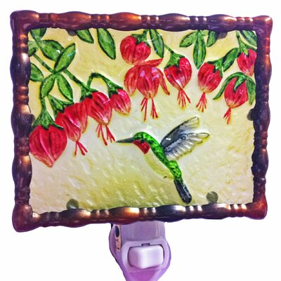 Hummingbird and Fuchsias Night Light