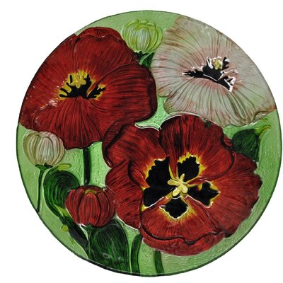 Flower Glass Plate