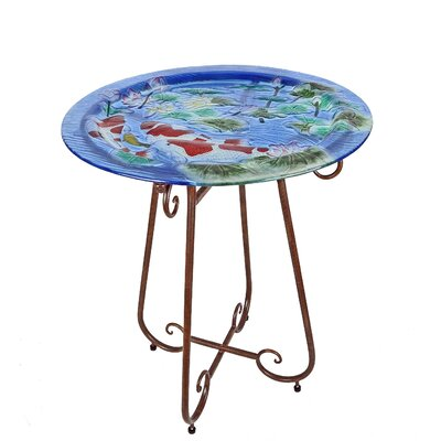 Koi Pond Bistro Coffe Table with Tray Top