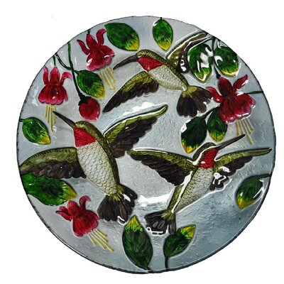 Hummingbirds Glass Plate