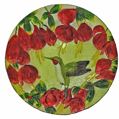 Hummingbird Glass Plate