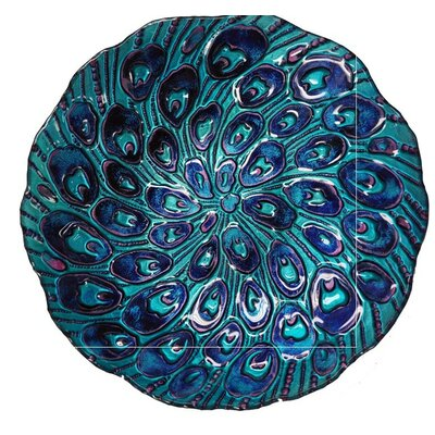 Peacock Tail Glass Plate