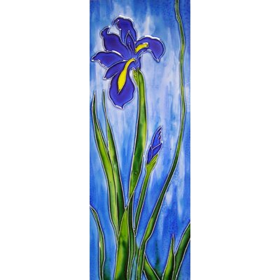 6 x 16 Ceramic Iris Mural Right Decorative Mural Tile