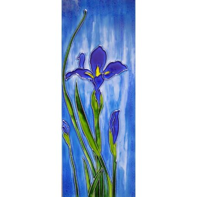 6 x 16 Ceramic Iris Mural Left Decorative Mural Tile