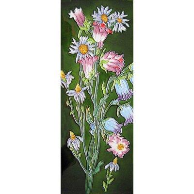 6 x 16 Ceramic Bell Flowers Decorative Mural Tile