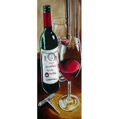 6 x 16 Ceramic 2 Glasses on the Right (Vertical) Decorative Mural Tile