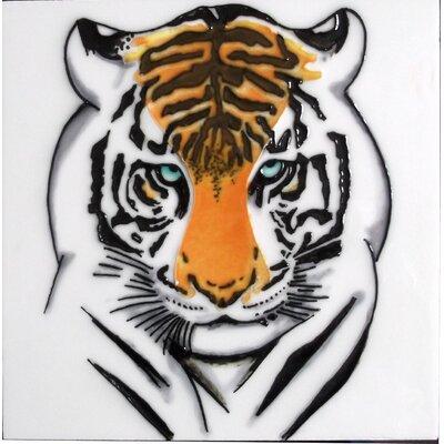 8 x 8 Ceramic Tiger Decorative Mural Tile