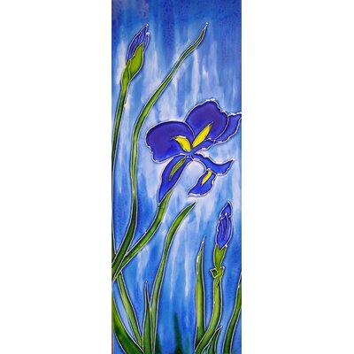 6 x 16 Ceramic Iris Mural Middle Decorative Mural Tile