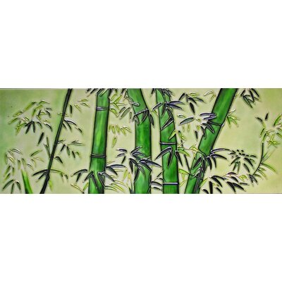 6 x 16 Ceramic Bamboo Tile Decorative Mural Tile