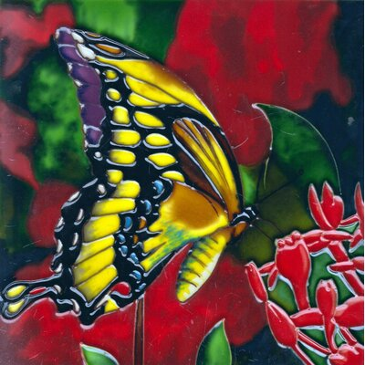 8 x 8 Ceramic Butterfly Decorative Mural Tile