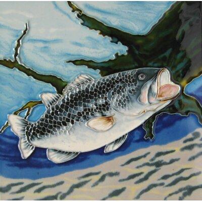 8 x 8 Ceramic Bass Decorative Mural Tile