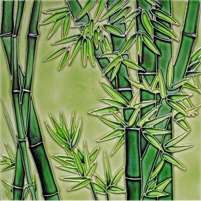 8 x 8 Ceramic Bamboo Decorative Mural Tile