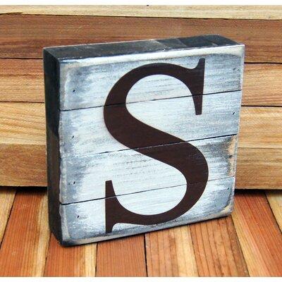 Classic Letter on Rustic Board Wall Decor