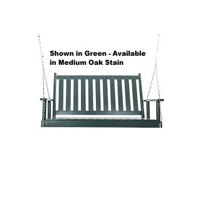 Asheboro Porch Swing Finish: Green