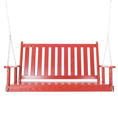 Asheboro Porch Swing Finish: Sienna Red