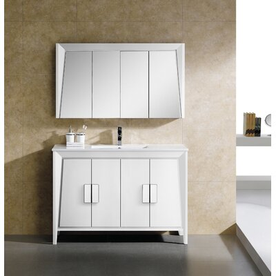 Imperial II 48 Single Bathroom Vanity Set Base Finish: White