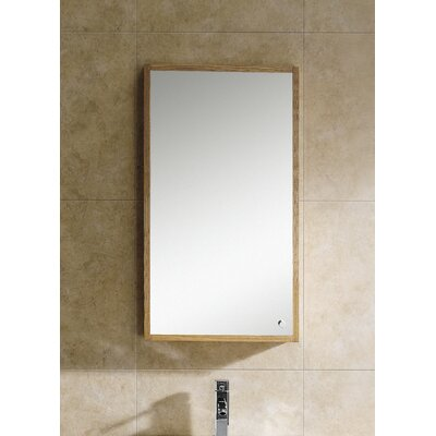 Glamour 17.75 x 31.5 Surface Mount Medicine Cabinet Finish: Light Maple