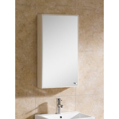 Glamour 17.75 x 31.5 Surface Mount Medicine Cabinet Finish: White