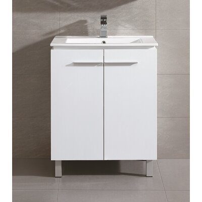 Briceno 30 Single Vanity Set Base Finish: White
