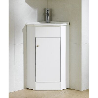 Englewood 22 Single Bathroom Vanity Set Base Finish: White