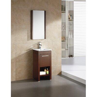 Modena 16 Single Bathroom Vanity Set Base Finish: Wenge