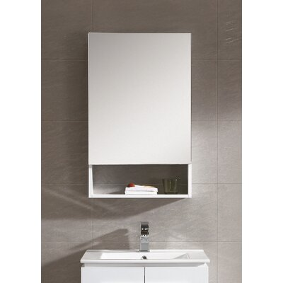 Glenwood 19.63 x 31.5 Surface Mount Medicine Cabinet Finish: White