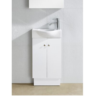 Knott 18 Single Vanity Base Finish: White