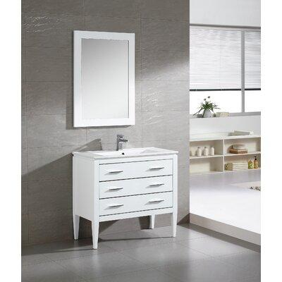 Ironwood 36 Single Bathroom Vanity Set Base Finish: White