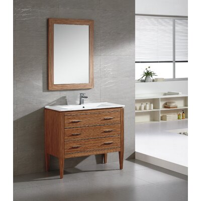 Ironwood 36 Single Bathroom Vanity Set Base Finish: Zebra