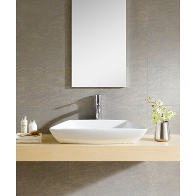 Modern Vitreous Modern Rectangular Vessel Bathroom Sink