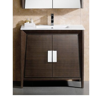Imperial II 36 Single Bathroom Vanity Base Finish: Ebony Wave