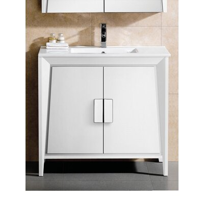 Imperial II 36 Single Bathroom Vanity Base Finish: White