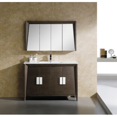 Imperial II 48 Single Bathroom Vanity Set Base Finish: Ebony Wave