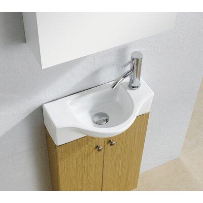 Modern Ceramic 18 Wall Mount Bathroom Sink