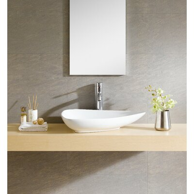 Modern Vitreous Triangular Specialty Vessel Bathroom Sink