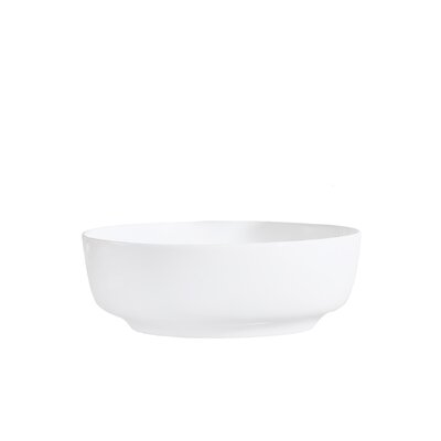 Vitreous China Thin Edge Rectangular Vessel Bathroom Sink