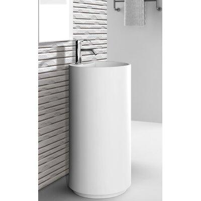 Crestview 18 Pedestal Sink with Overflow