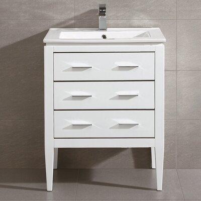 Ironwood 24 Single Bathroom Vanity Set Base Finish: White