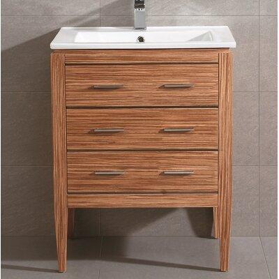 Ironwood 24 Single Bathroom Vanity Set Base Finish: Zebra