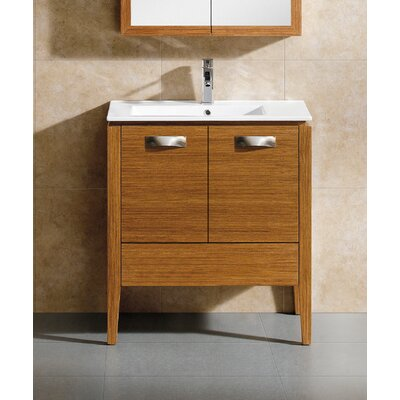 Manchester 30 Single Vanity Set Base Finish: Wheat