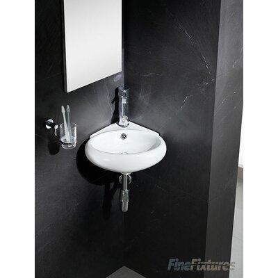 Modern Ceramic 17 Corner Bathroom Sink