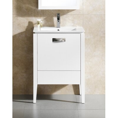 Manchester 24 Single Vanity Set Base Finish: White